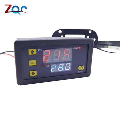 W3230 DC 12V AC 110V 220V 20A LED Digital Temperature Controller Thermostat Thermometer Temperature Control Switch Sensor Meter Lahore