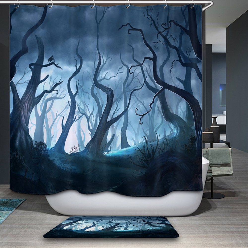 Smiry American Style Shower Curtain 180x180cm Polyester Animal Boat ...