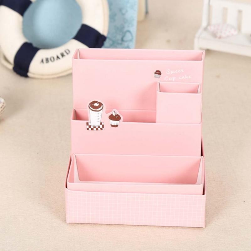 diy paper board storage box desk decor stationery makeup cosmetic table decorative storage boxes cardboard home