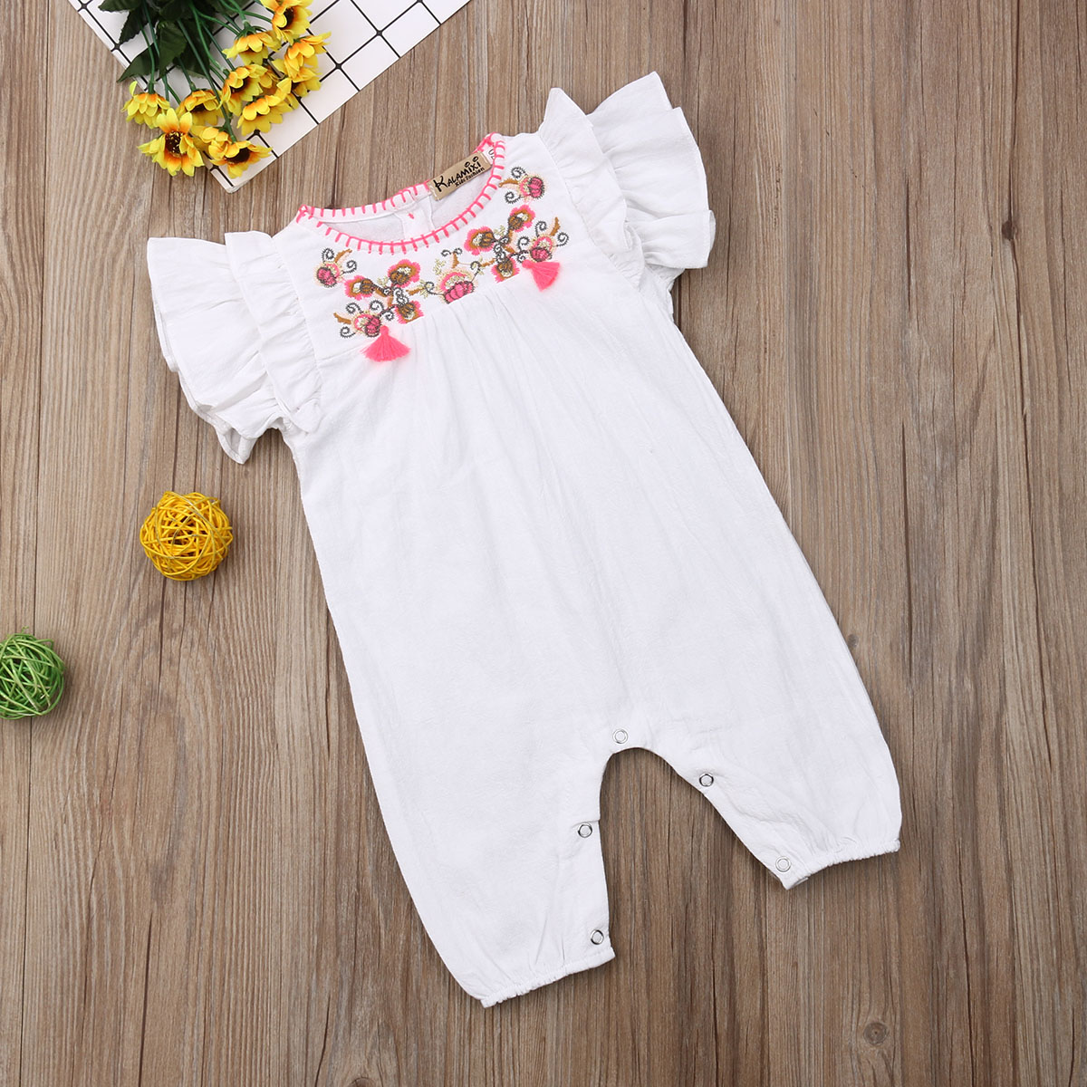 2019 Summer Flower Baby Girls Clothes Newborn Infant Baby Ruffles   Rompers   Jumpsuit Playsuit Baby Girls Costumes