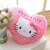 CXZYKING 45 35CM Super Kawaii Hello Kitty Pillows Soft Back Cushion Stuffed Plush Toys Baby Good