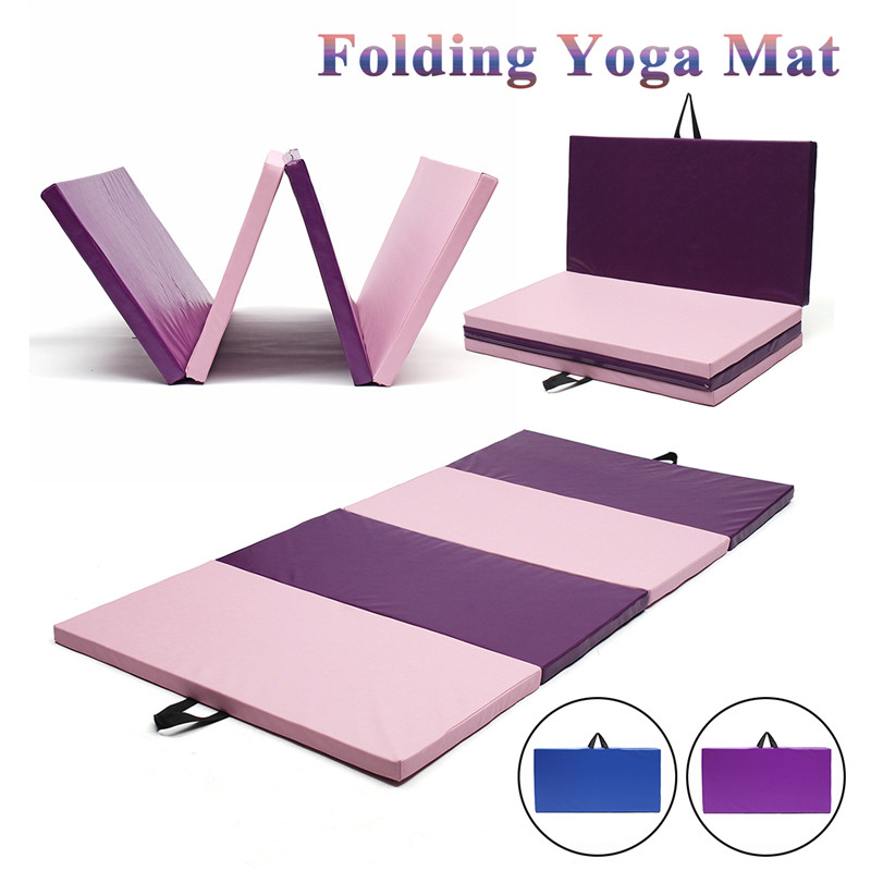 240x120x5cm 3 Color Yoga Mats Folding Soft Play Gym Sport Health Mat Large Non Slip Fitness Exercise Pad Yoga Mats advanced rubber yoga mats pad non slip sweat absorbent exercise mat pad home gym exercise fitness yoga mat