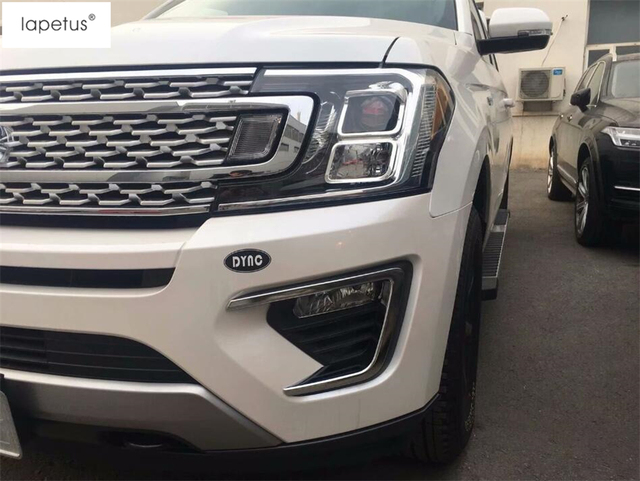 Lapetus Accessories For Ford Expedition 2018 2019 Bright Style Front Fog Lights Foglight Lamp Molding Cover