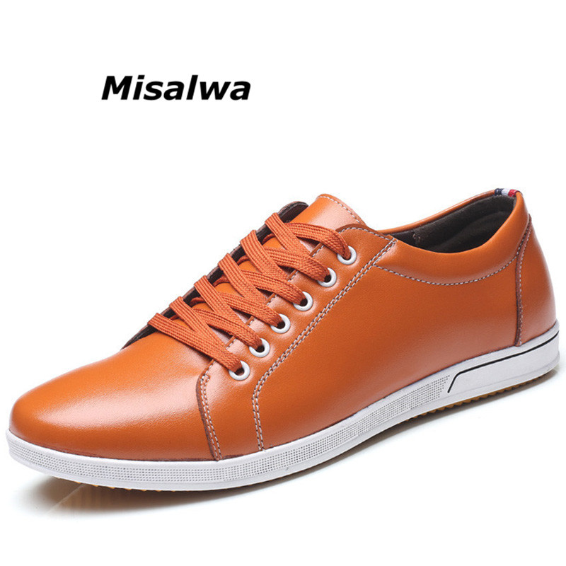 Misalwa Brand New Classic Style Mens Sneakers Casual Shoes Red Fashion Lace up Simple Men Shoes Lightweight Plus Size Drop ship new balance ms2018 nb999 women and men shoes outdoors lightweight stability sneakers gray red size 36 44