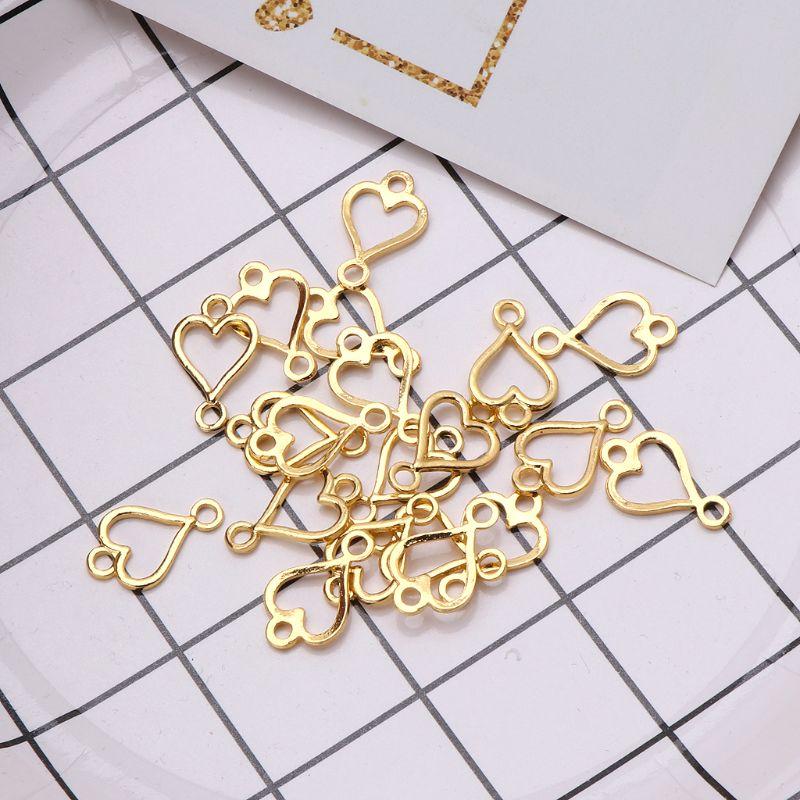 20Pcs Poker Bracelet UV DIY Frame Connectors Open Bezel Blank Setting Jewelry in Jewelry Findings Components from Jewelry Accessories