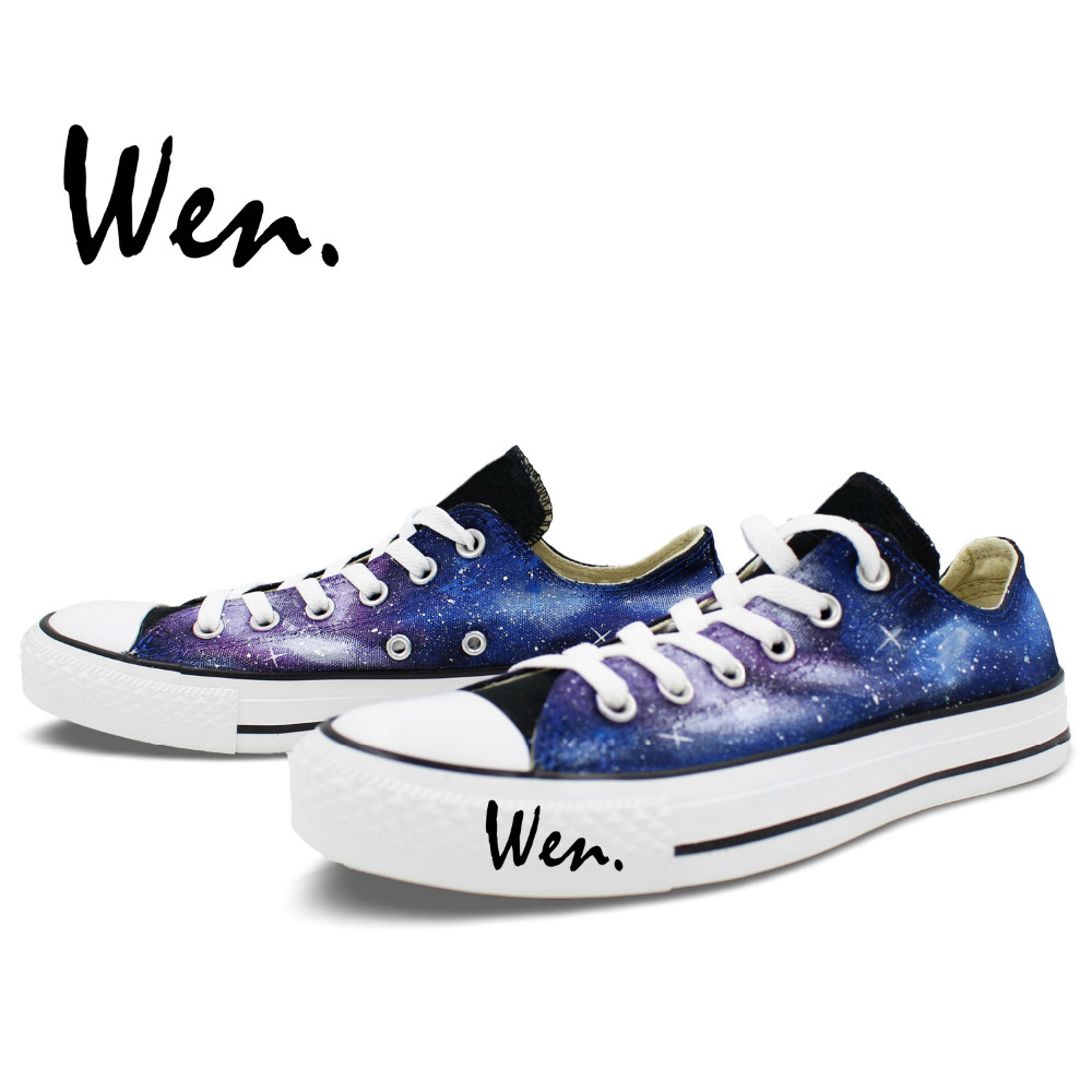 Wen Izvorni ručno oslikane cipele Dizajn Custom Blue Starlight - Tenisice - Foto 3