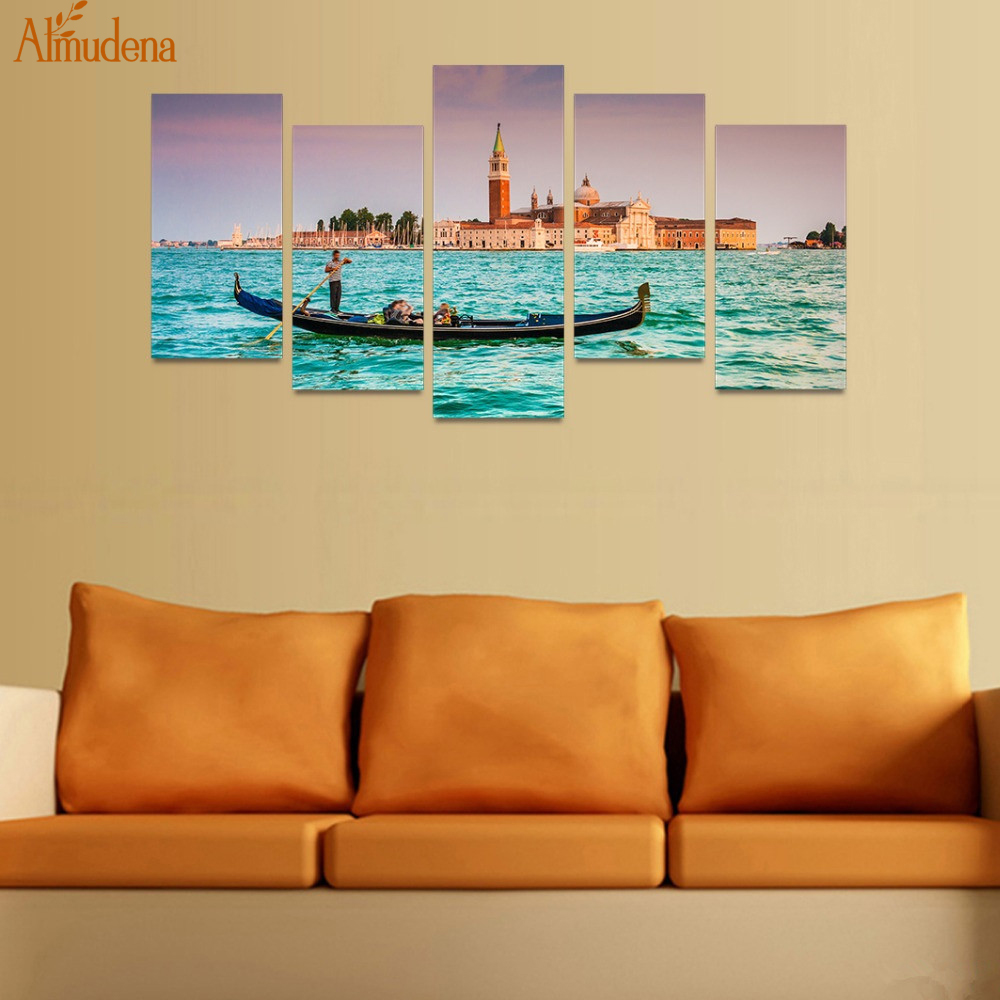 ALMUDENA Landscape Wall Art Unframed Painting Modular Picture Living ...