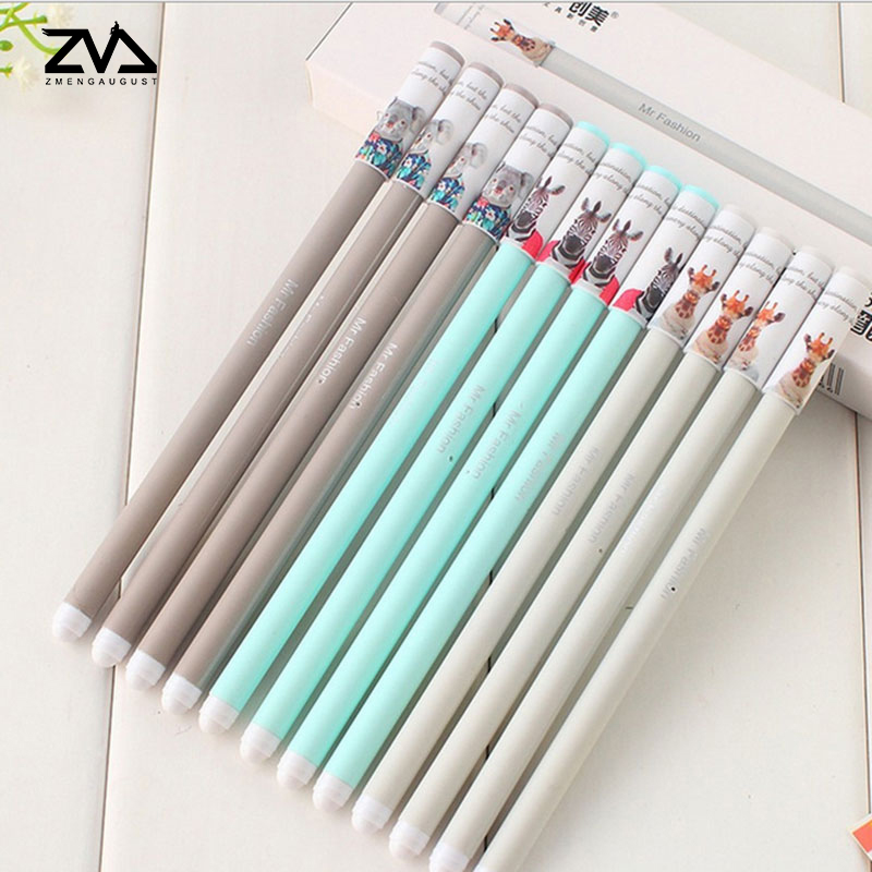 2pcs/lot Fashion sign pen student office 0.35mm full needle tube transparent rod gel pen special student signature pen