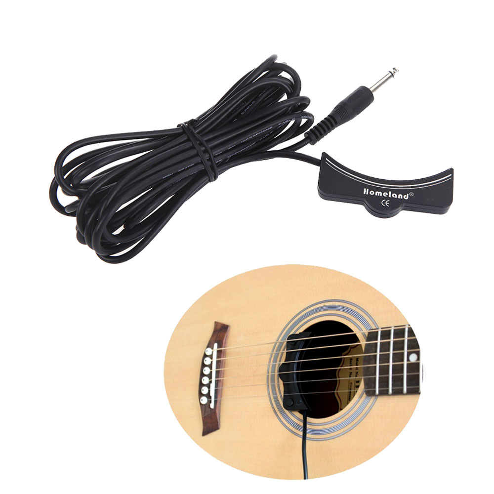High-sensitive Classical Acoustic Guitar Pickup Low-noisy Soundhole Pick Up Guitar Parts & Accessories 5M Cable 6.3mm Jack savarez 510 cantiga series alliance cantiga normal high tension classical guitar strings full set 510arj