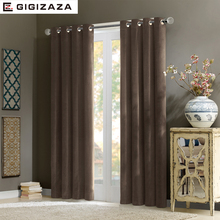 Nobility velvet shine fabric window curtains black out blinds high quality process finished decorative for rooms