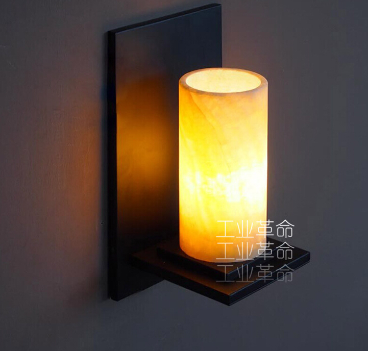 21481cecabc Creative American Industrial Wall Lamp European Restaurant Hallway Wall  Sconce Marble Glass Bar Modern Lighting E27