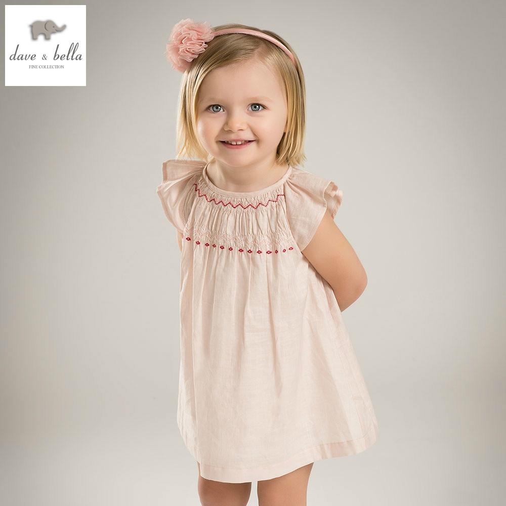 DB4400 dave bella summer baby girl princess dress baby wedding dress kids birthday clothes dress kid lolita costumes