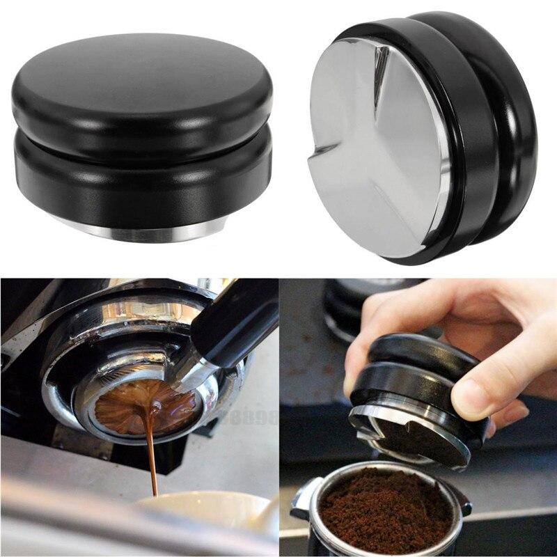 Macaron Design Adjustable Smart Coffee Tamper Espresso 58mm stainless steel Base Propeller Three Angled Slopes