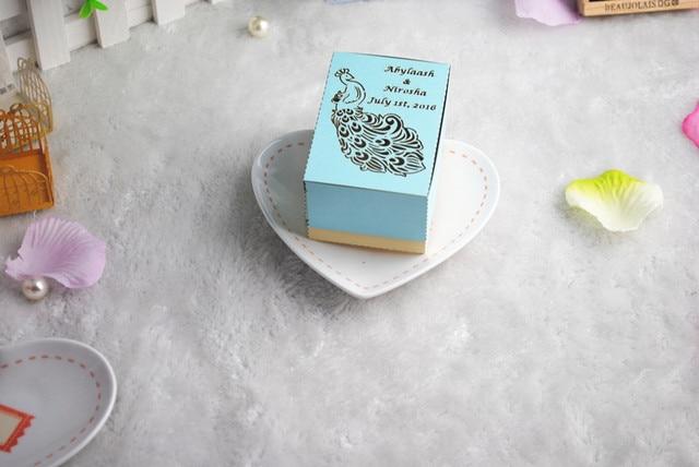 Nette Heisse Hochzeit Gunsten Blau Pfau Hochzeit Dekoration Box