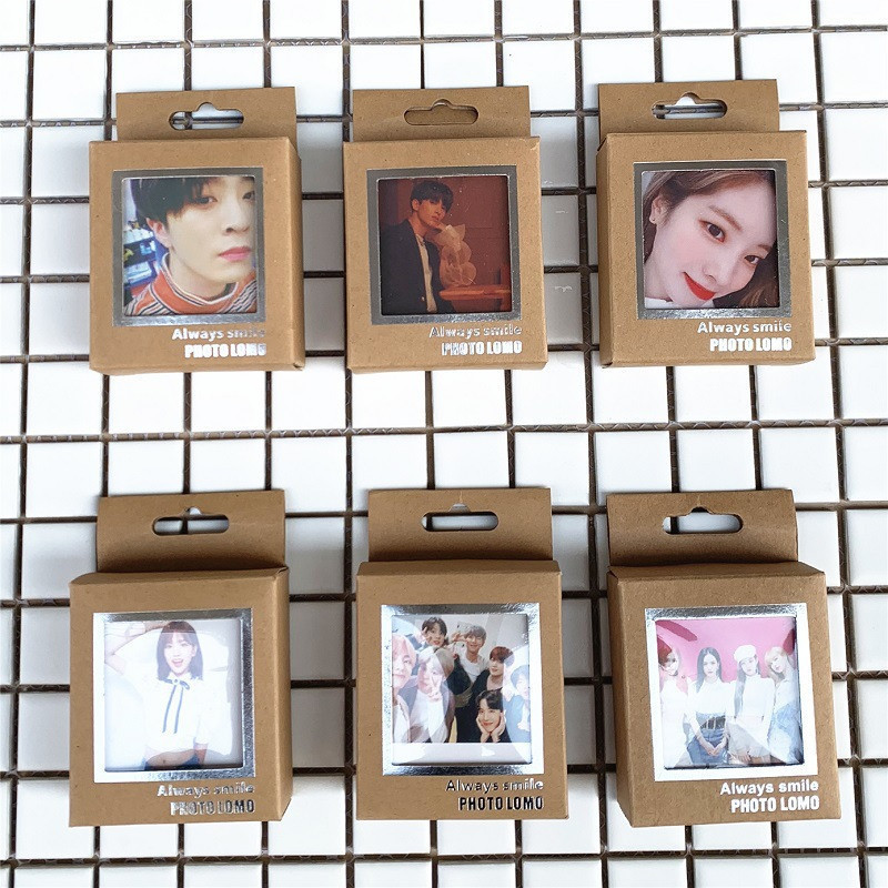 Lomo-Cards BLACKPINK GOT7 TWICE SEVENTEEN IZONE Boys Kpop Bangtan With Clips And Rope