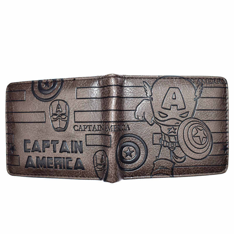 High Quality Marvel Avengers Wallet Captain America /Deadpool / Black Panther /Punisher Men's Short Wallets With Coin Pocket