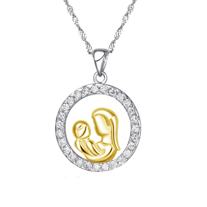 Moms Jewelry Birthday Gift For Mother Baby Heart Charm ...