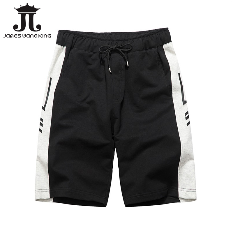 Summer fashion men shorts cotton loose striped black shorts Bermuda DK09 ...