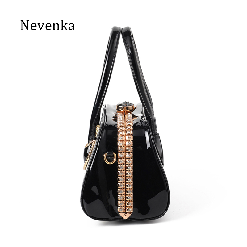 Nevenka Fashion Women Evening Bag Famous Brand Designer Bags Patent Leather  Rhinestones Bag Socialite Crossbody Bags Handbags-in Top-Handle Bags from  ... 548cde9dc8