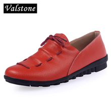2017 Spring Women Genuine Leather Shoes Loafers Casual Flats Feme Fashion Soft Sandals Shallow Romestyle Chaussure Zapatos mujer