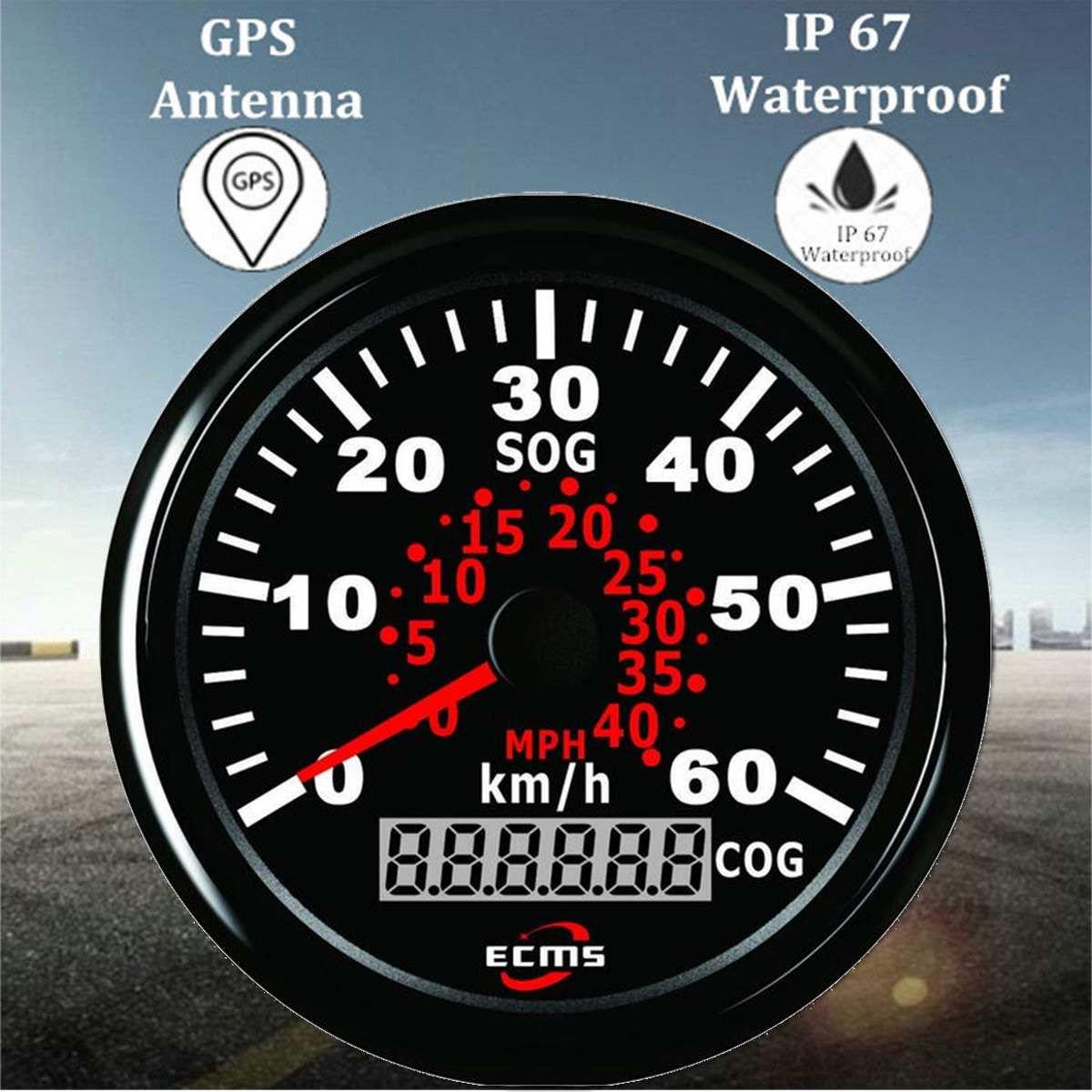 85mm Auto Car Truck Marine GPS Speedometer Waterproof Speed Sensor Meter Gauge Digital Odometer Automobiles Replacement Parts 4