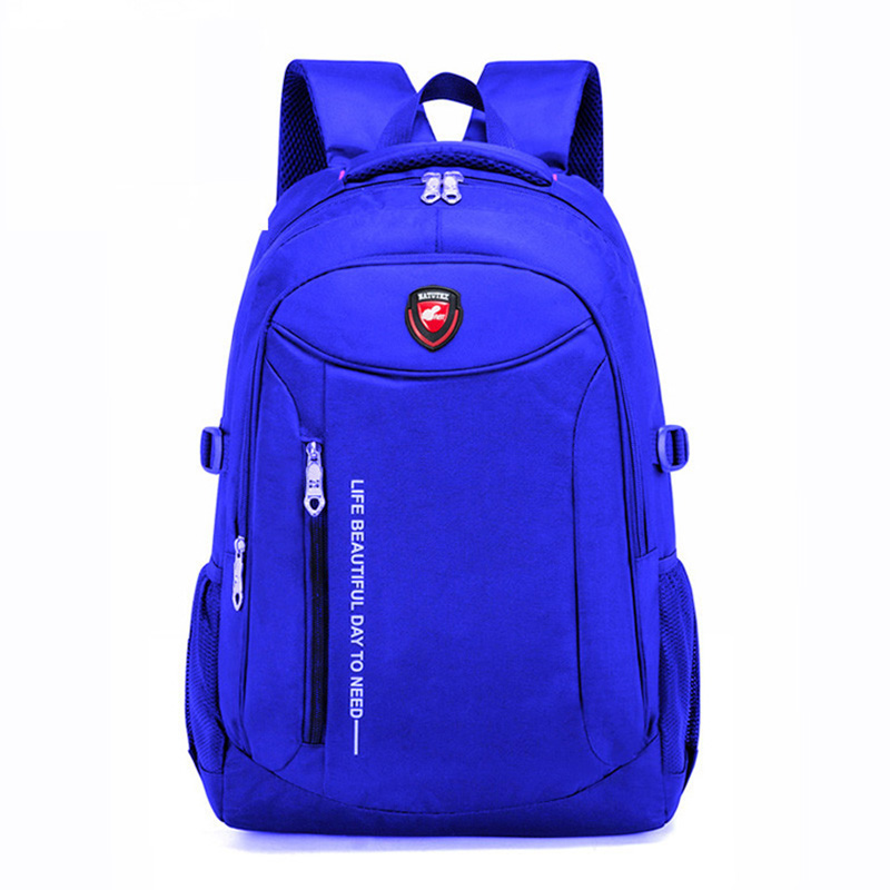2019 New Fashion Men school Backpack soft bag Leather Male Luxury Casual Travel Waterproof Backpack Large Capacity Laptop Bags in Backpacks from Luggage Bags