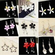 цены Long tassel earrings female personality wild pearl earrings factory direct small jewelry wholesale gift
