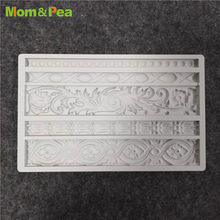 Mom&Pea GX242 Flower Tape Shaped Silicone Mold Cake Decoration Fondant Cake 3D Mold Food Grade(China)