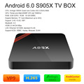 Nexbox a95x s905x amlogic 2 gb/16 gb 4 k android 6.0 caixa de tv quad-core 64bit 4 K * 2 K TV Box XBMC H.265 DLNA Miracast WiFi Mini PC Kodi