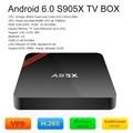 Nexbox a95x s905x amlogic 2 gb/16 gb 4 k android 6.0 tv box quad-core 64bit 4 K * 2 K TV Box XBMC H.265 DLNA Miracast WiFi Mini PC Kodi