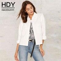 HDY Women Outerwear Coats Short Slim Basic Jackets Female Jacket Coat Women Spring Autumn Winter Streetwear