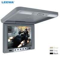 LEEWA 12 inch Car/Bus TFT LCD Roof Mounted Monitor Flip Down Monitor 2 Way Video Input 12V Black, Grey, Beige #A1287