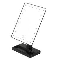 24 светодиоды площадь shpe рабочего Регулируемая лица Макияж зеркало Яркость Спальня настольные сделать зеркало косметическое зеркало свет