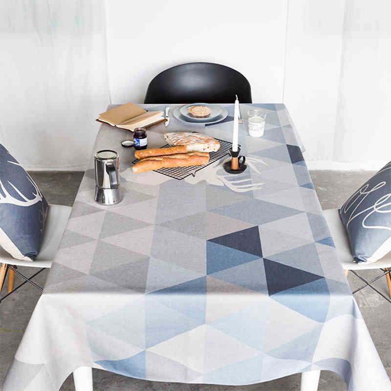 Round tablecloth thickened rectangular coffee table cloth living room restaurant desk use