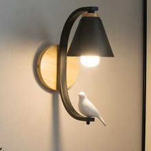 Thrisdar Nordic Iron Bird LED Wall Lamps Warm Bedroom Bedside Light Corridor Bar Restaurant Hotel