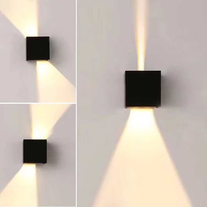 modern waterproof cube adjustable 12w cob outdoor led wall lamp ip65 aluminum wall lights garden. Black Bedroom Furniture Sets. Home Design Ideas