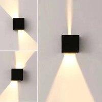 Modern Waterproof Cube Adjustable 12W COB Outdoor LED Wall Lamp IP67 Aluminum Wall Lights Garden Porch