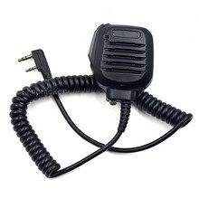 פרו כתף מרחוק רמקול מיקרופון מיקרופון PTT עבור Kenwood שתי דרך רדיו TK2402 TK3402 TK3312 TK2312 NX220 NX320 NX240 כמו KMC 45