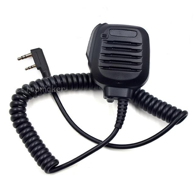 برو الكتف عن بعد المتكلم ميكروفون PTT لكينوود اتجاهين راديو TK2402 TK3402 TK3312 TK2312 NX220 NX320 NX240 كما KMC 45