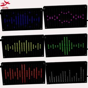 zirrfa Diy Music Spectrum Display Big Size 256 Segment Sound Led Music Spectrum Electronic Diy Led Flash Kit 6 Colors