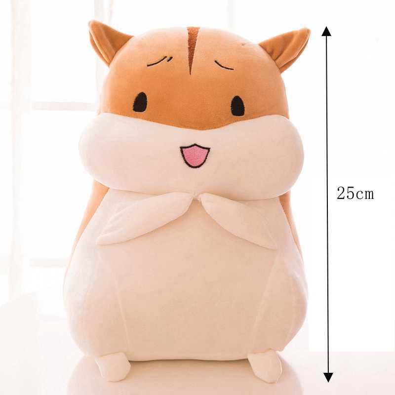 25cm צעצועי קטיפה חמוד שומן אוגר עם רגשות חיה קטיפה רך ממולא בובות Kawaii אוגר צעצוע לילדים קיד יום הולדת מתנה