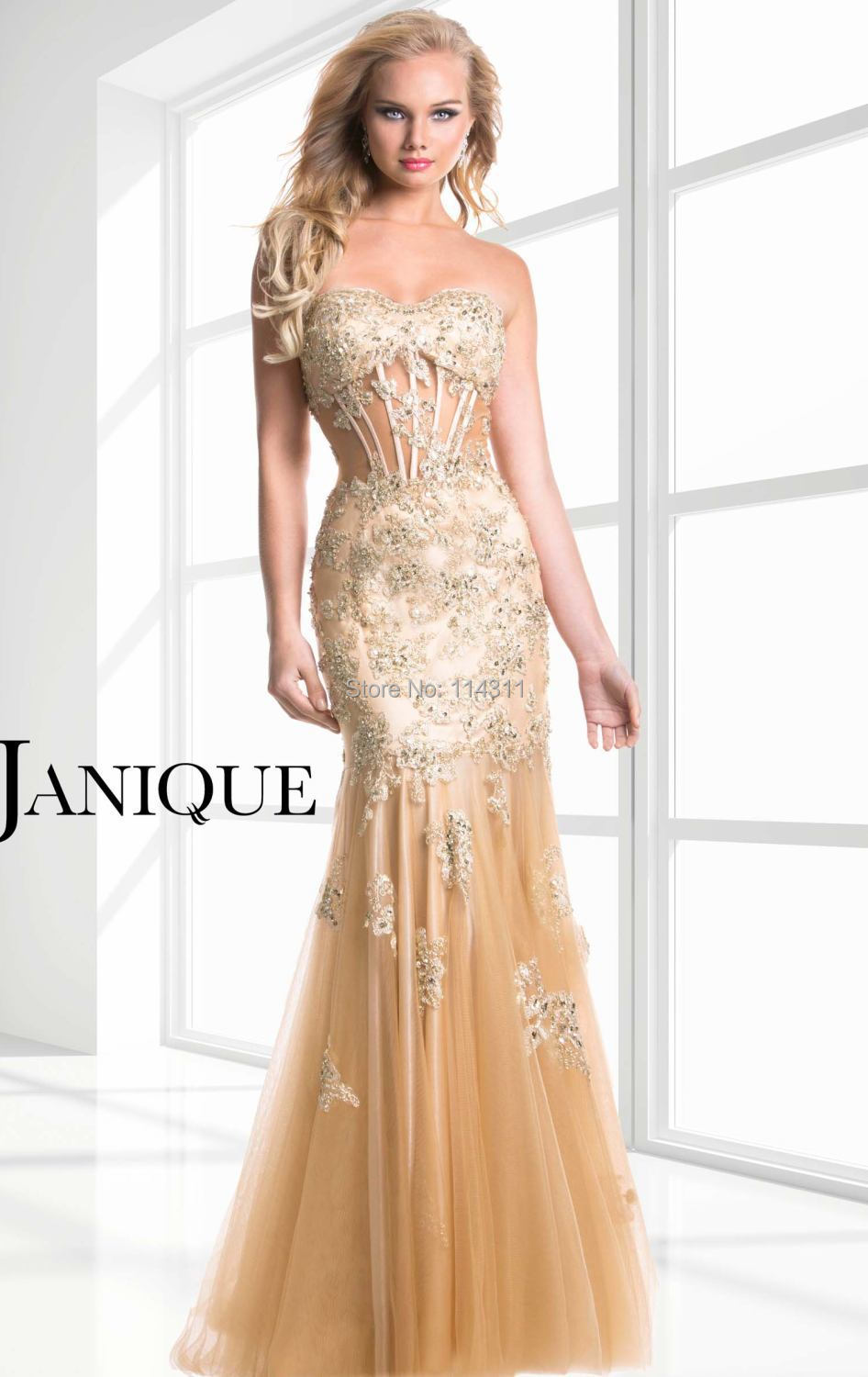 Champagne Gold Prom Dresses 2016 Sweetheart Sheer Waist ... Lace Gold Bridesmaid Dresses