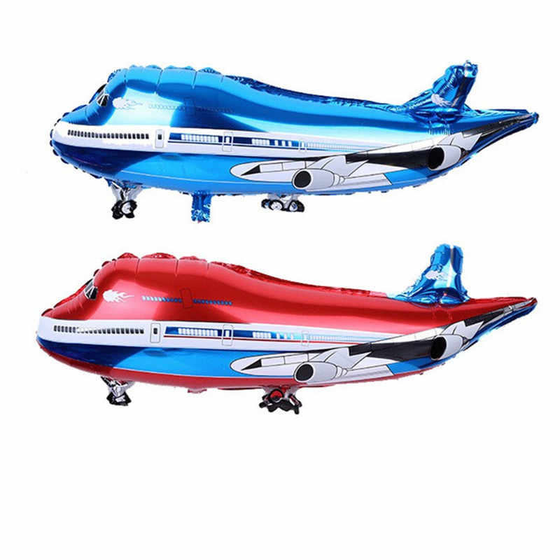 1PC Air Passenger Plane Helium Foil Balloons Agricultural Duster Plane Large Fighter Aluminum Ballon Kids Birthday Party Gift
