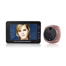 4.3-inch motion detection e-cat's eye with doorbell, night vision, motion detection support for video recording, two-way interco