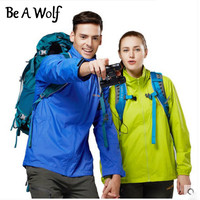 Be A Wolf Spring Windbreaker Waterproof Softshell Jackets Men Outdoor Fishing Hiking Clothing Camping Skiing Rain