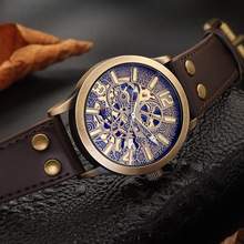 Mechanical Wristwatches Men Fashion Retro Analogue Watch Mens Watches Top Brand Luxury Sports Military Skeleton Clock relogio цены онлайн