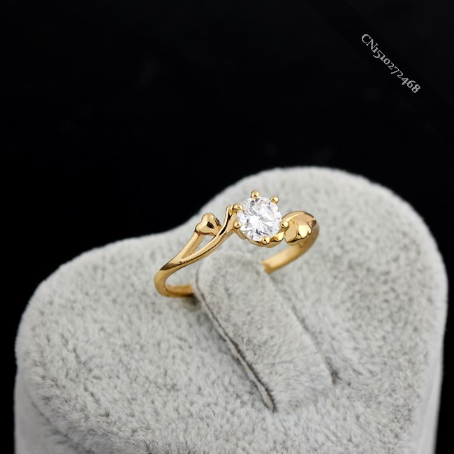 New Fashion Lady Girl Finger Ring Gold Plated Jewelry Romantic