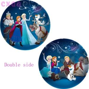 Image 3 - Globos de aluminio de Elsa y Anna de 18 pulgadas para niños, globo de princesa, reina de Frozen, decoración de fiesta de cumpleaños, suministros de baño para bebé, juguetes para niños, 60 uds.