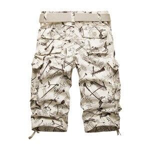 Image 2 - 2020 yaz pamuk Mens kargo şort moda kamuflaj erkek şort çok cep rahat Camo açık havada Tolling Homme kısa pantolon