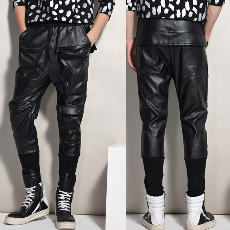 leather harem pants men - photo #16